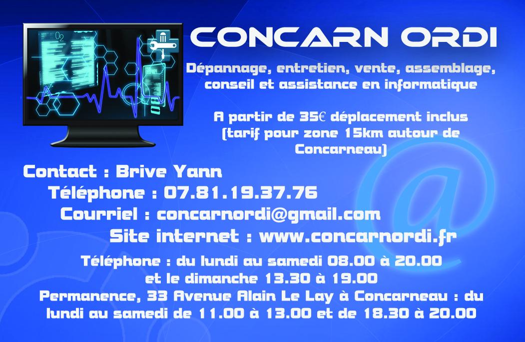 ConcarnOrdi Dpannage Informatique Concarneau